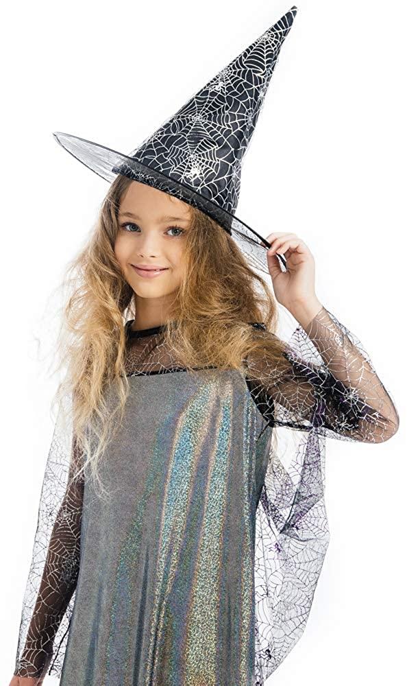 Girls Witch Halloween Costume,Witch Child Costume, Witch Costume Set for Girls