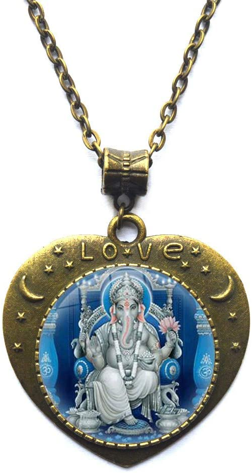Ganesh Necklace Ganesh Statue Zen Jewelry Ganesha Pendant Indian Jewelry Ganesh Sign Pendant Yoga Jewellery Meditation Boho Gift Spiritual,N387