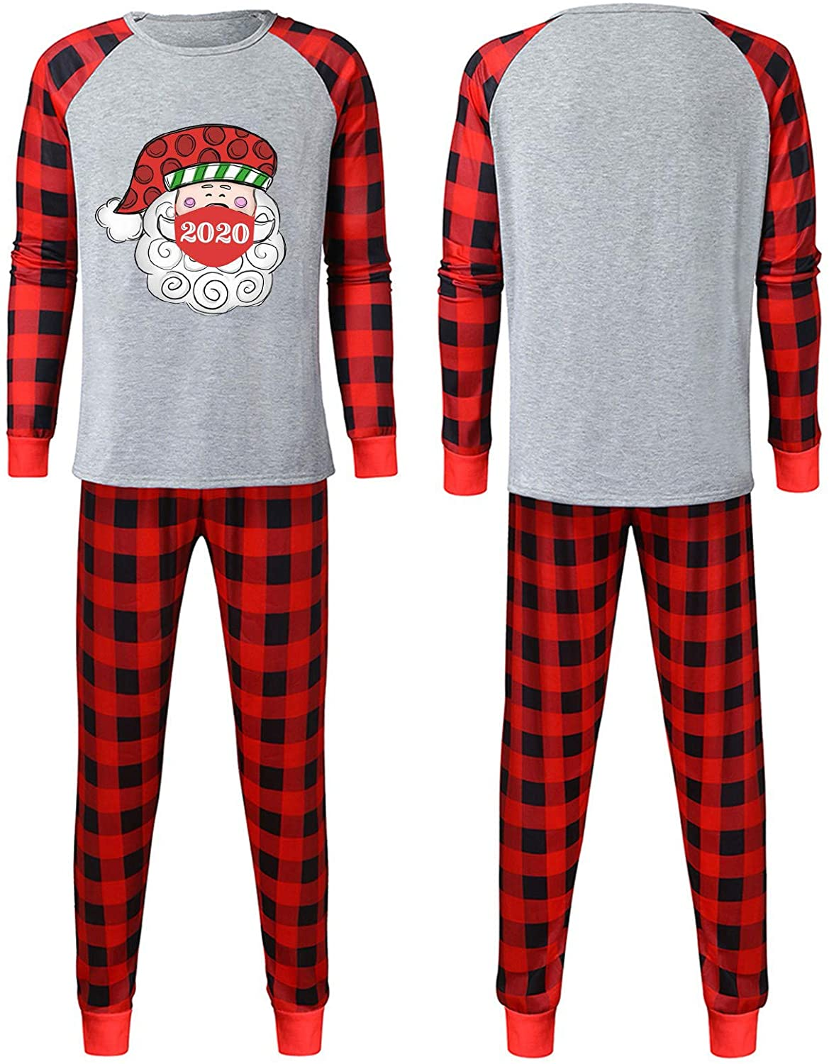 Clothing Outfits Suits 2020 Christmas Printed Pajamas for Family Santa Claus Loungewear Sleepwear Set