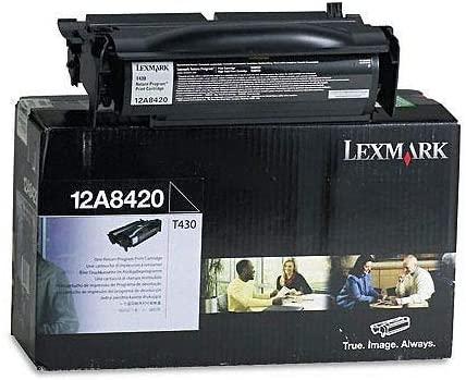 Wholesale CASE of 2 - Lexmark 12A8420/25 Toner Cartridges-Return Program Print Cartridge, 6000 Page Yield