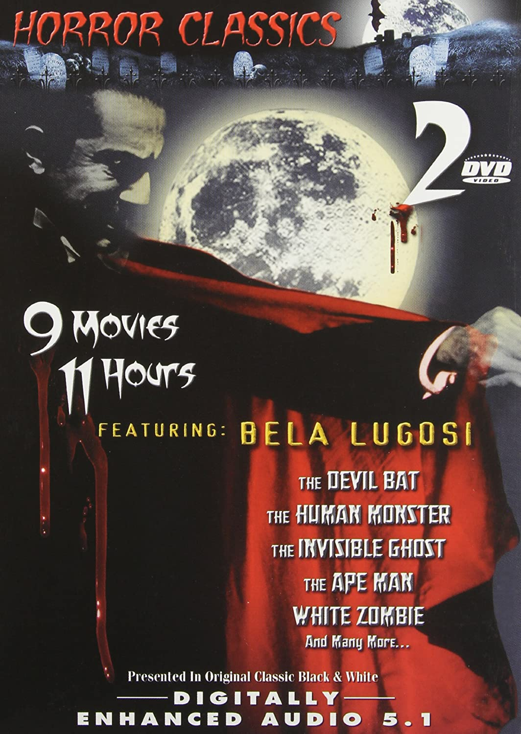 Great Horror Classics, Vol. 1: The Gorilla / The Devil Bat / The Human Monster / The Invisible Ghost / The Ape Man / Carnival of Souls / Chamber of Horrors / Last Man on Earth / White Zombie