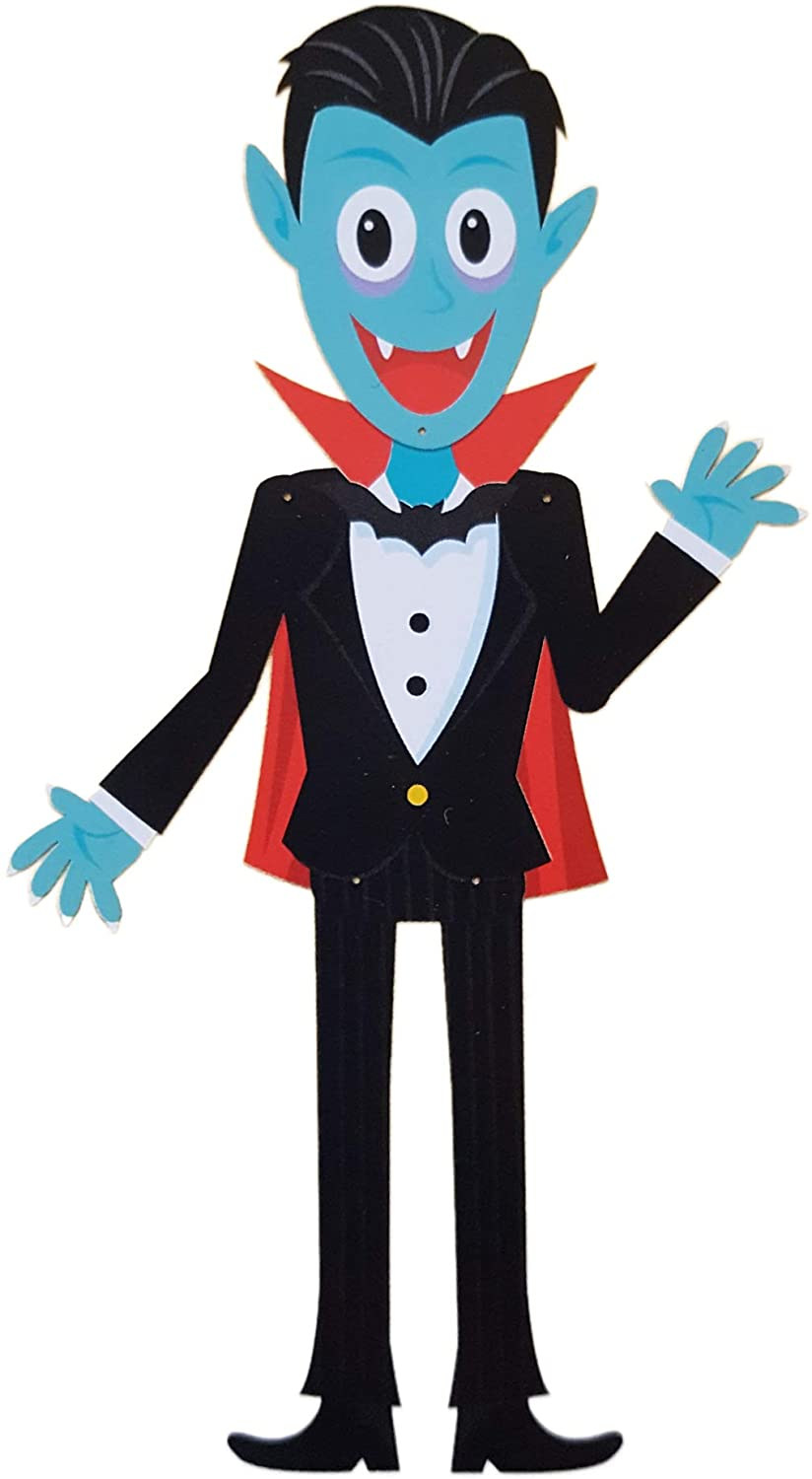 Halloween Party Decoration Jointed Cutout Character Figure Door Wall Decor 36 Inch (Dracula Vampire)