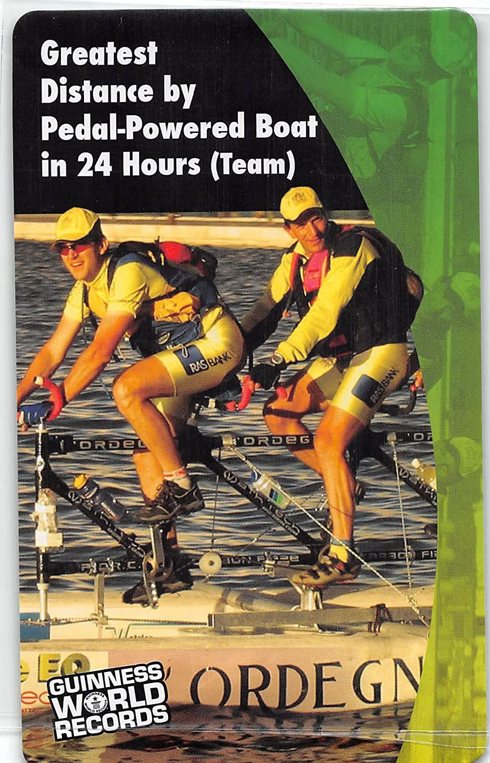 Greatest Distance by Pedal-Powered Boat - Trieste Waterbike Team 2011 Guinness World Records Super Sports Card (NM-MT)