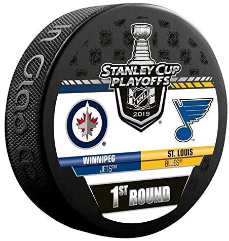 2019 Stanley Cup Playoffs Hockey Puck 1ST Round Jets VS. Blues Souvenir Puck Finals