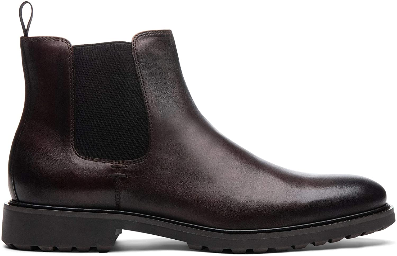Blake McKay: Keane Men's Dress-Casual Boot Leather Chelsea Boot. Must-Have Bootie with a Breathable Leather Lining, Ortholite Insole, and Durable Non-Slip Rubber Lug Sole for All-Day Comfort.