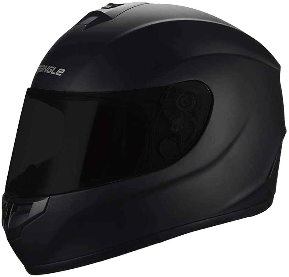 "Triangle Motorcycle Helmets Full Face ""Graffiti Cross"" Street Bike [DOT] (X-Large, Matte Black)"