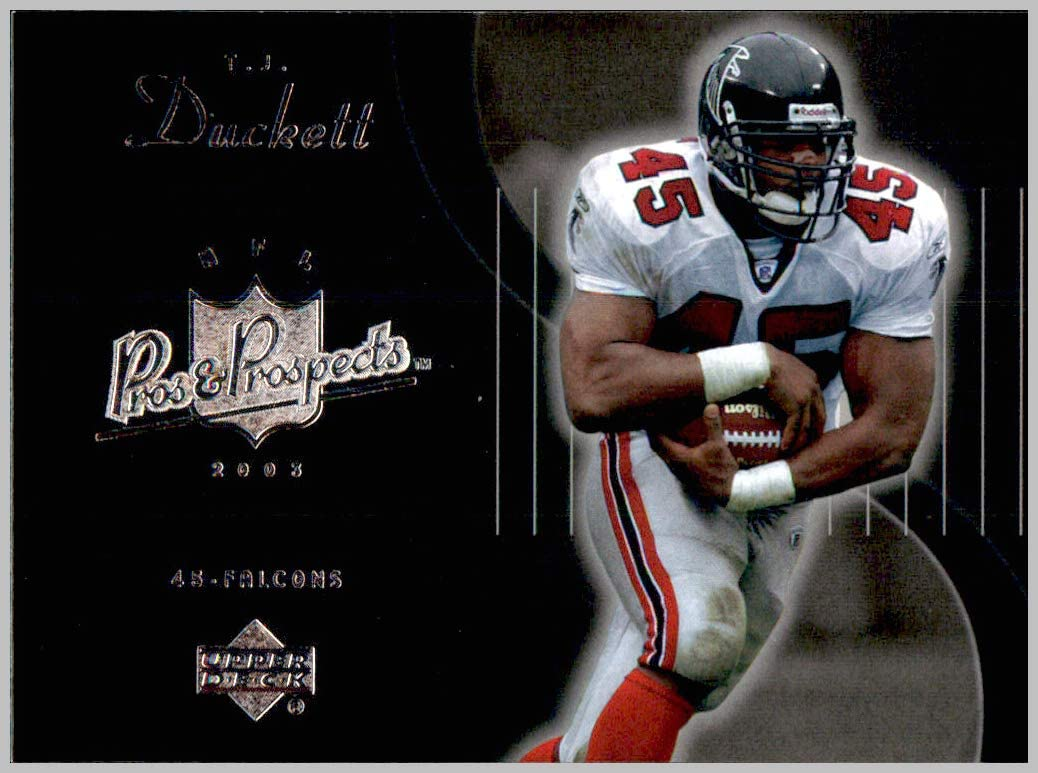 2003 Upper Deck Pros and Prospects #4 T.J. Duckett ATLANTA FALCONS MICHIGAN STATE SPARTANS