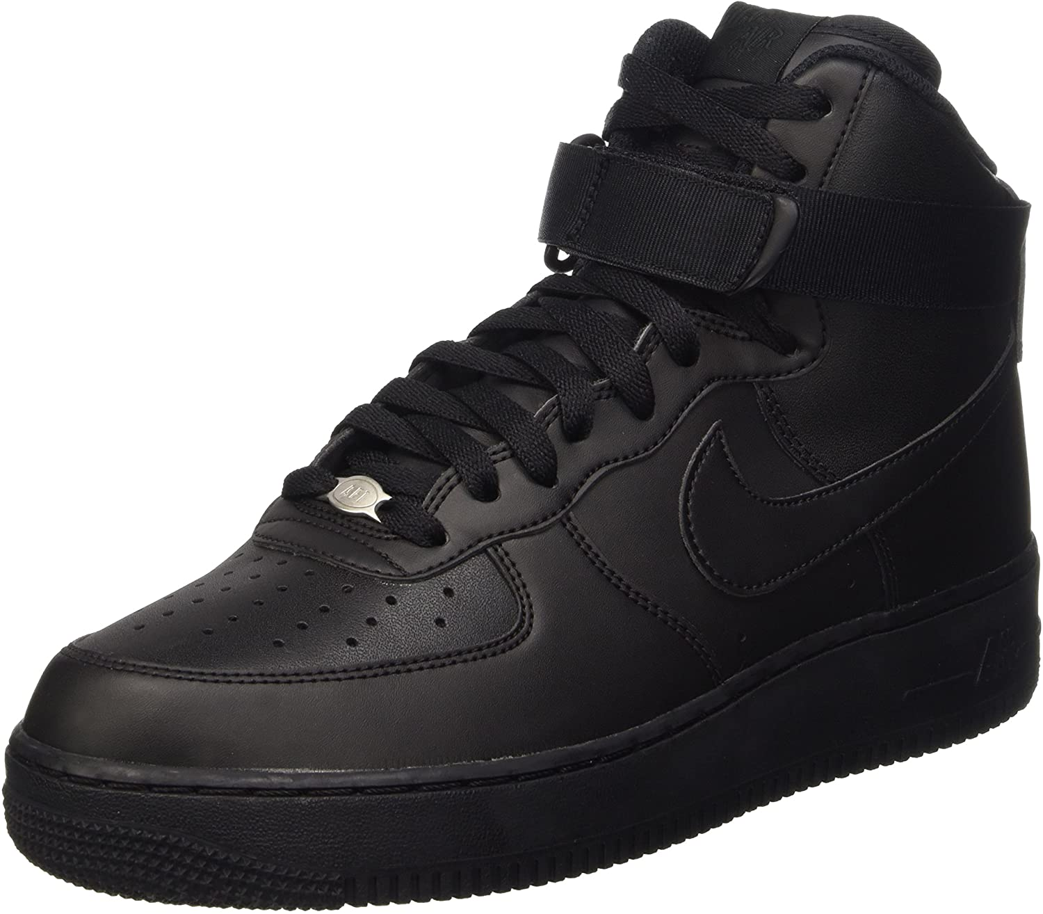 Nike 315121-032 Men AIR Force 1 HIGH 07 Black/Black/Black
