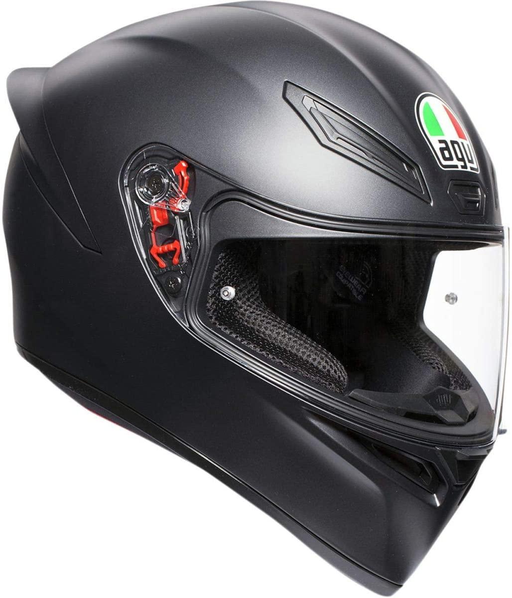 AGV Unisex-Adult Full Face K-1 Motorcycle Helmet (Matte Black, XX-Large)