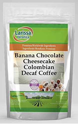 Banana Chocolate Cheesecake Colombian Decaf Coffee (Gourmet, Naturally Flavored, Whole Coffee Beans) (8 oz, ZIN: 566274)