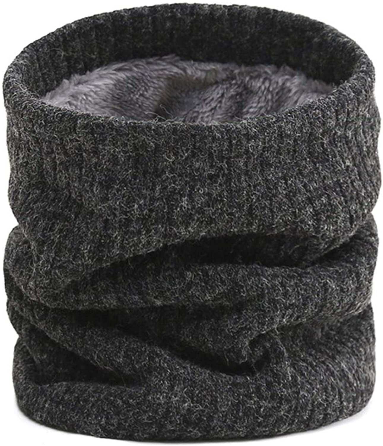 AIFFERA Fleece Winter Neck Warmer Gaiter,Lined Knitted Neck Warmer Scarf for Women Men