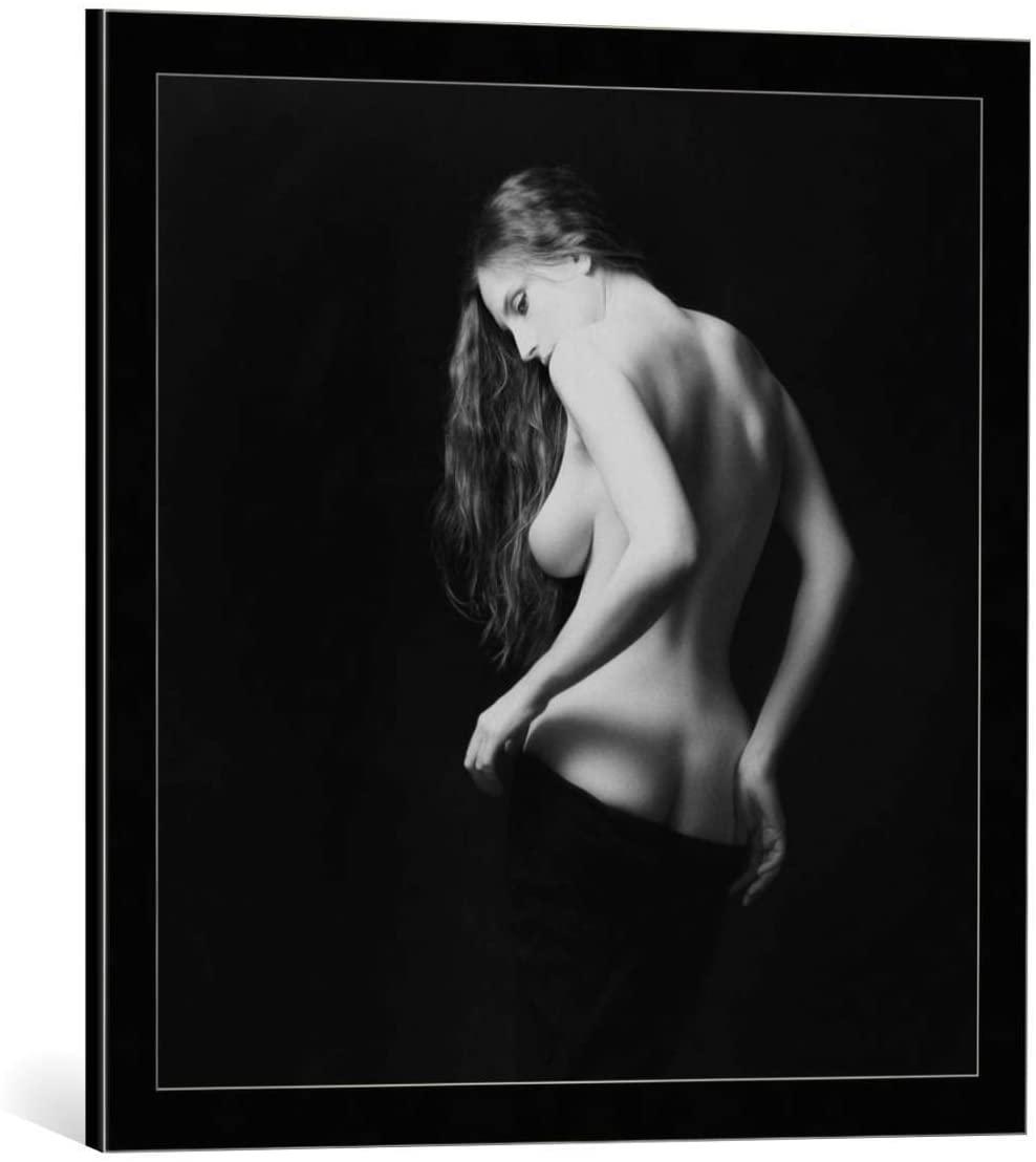 kunst für alle Framed Art Print: Zachar Rise Sasha - Decorative Fine Art Poster, Picture with Frame, 23.6x23.6 inch / 60x60 cm, Black/Edge Grey
