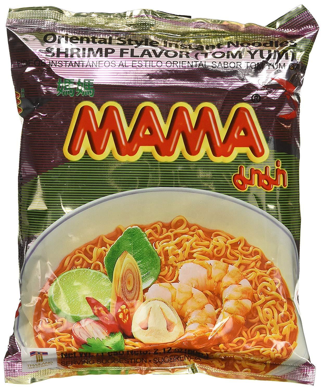MAMA Instant Ramen Noodle, Tom Yum Shrimp Flavour (Pack Of 15)