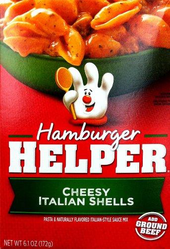 Betty Crocker Hamburger Helper Cheesy Italian Shells, 6.1 oz (Pack of 2)