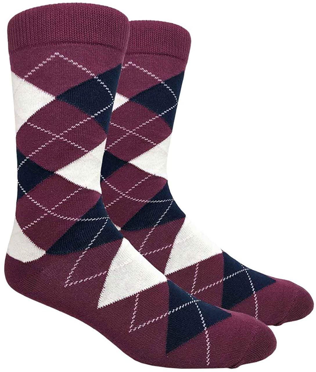 Ivory + Mason Argyle Dress Socks for Groomsmen - Men's Socks - Premium Cotton - Size 8 to 13…