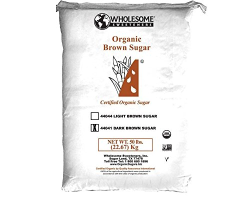 Wholesome Sweeteners Organic & Fair-Trade Dark Brown Sugar - 50 Pounds