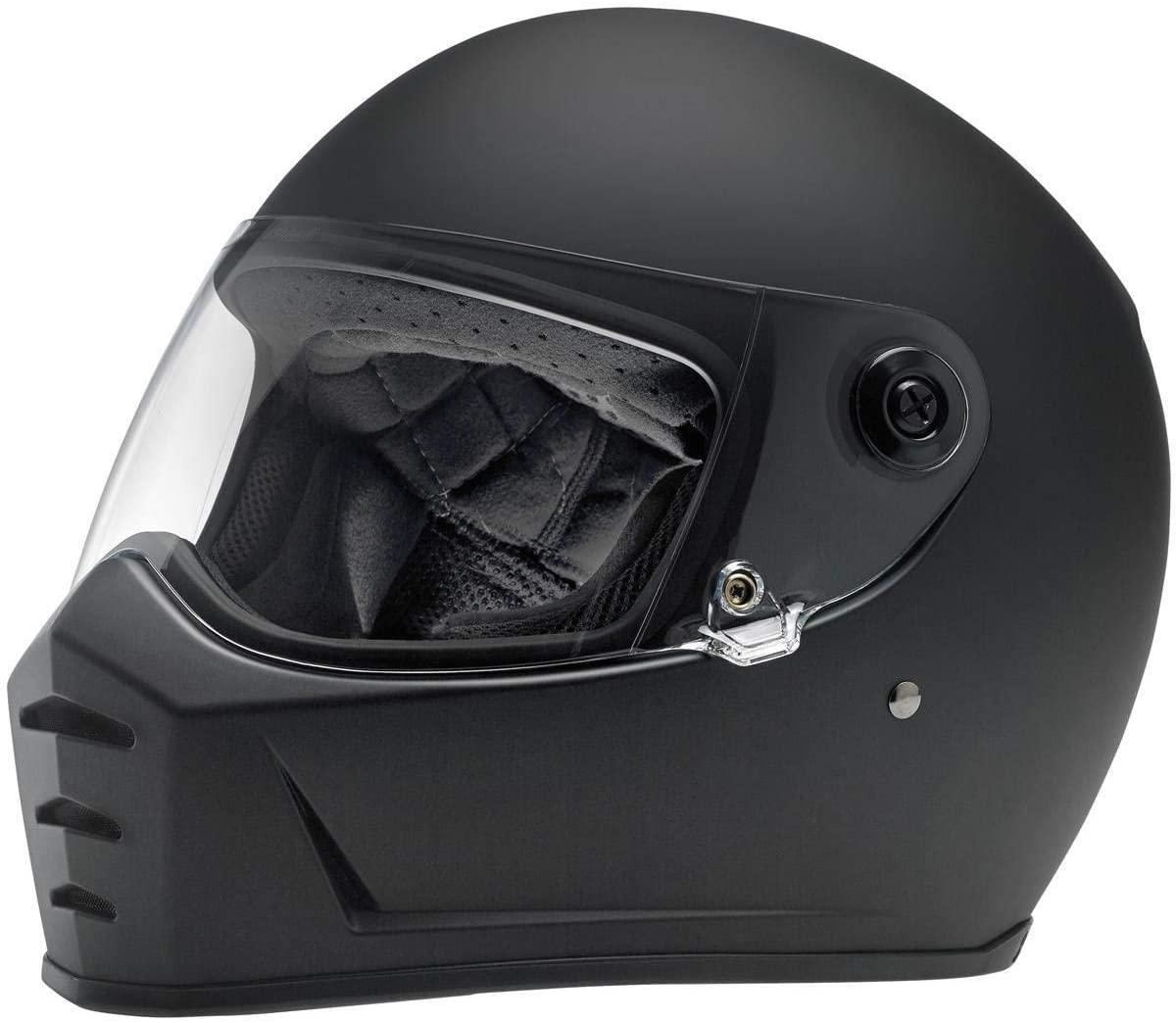 Biltwell Lane Splitter Solid Full-face Motorcycle Helmet - Flat Black/X-Small