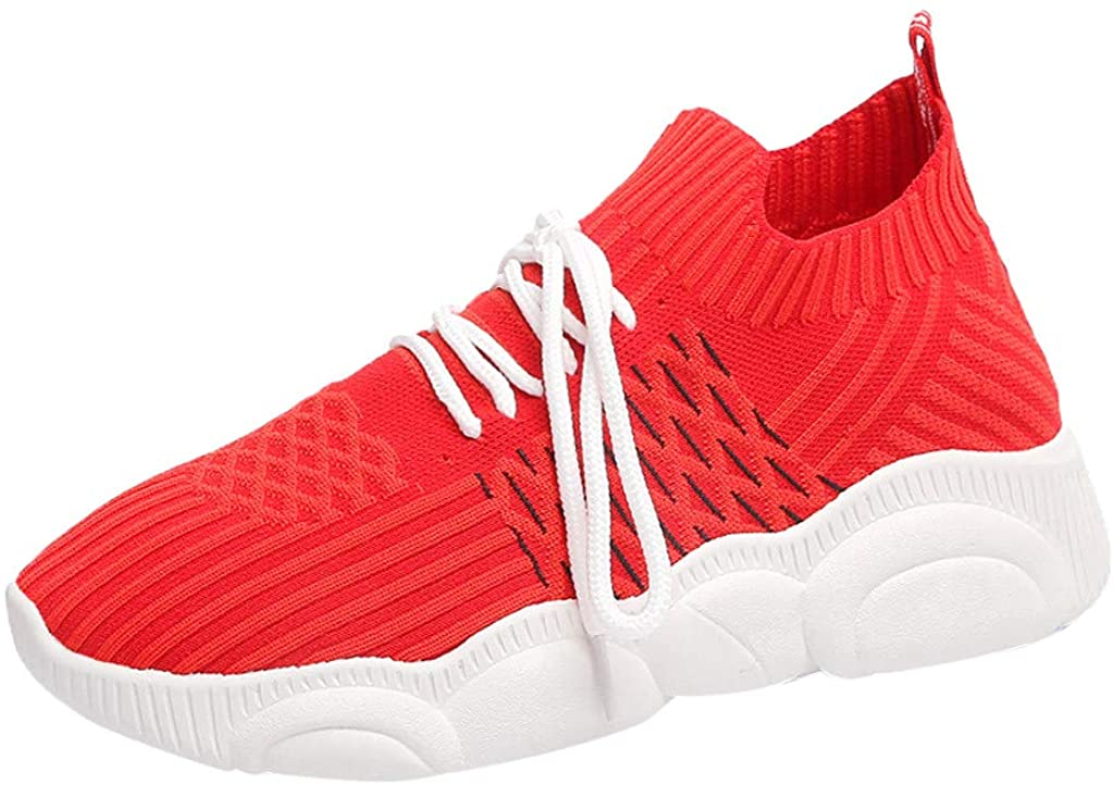 Casual Sneakers, Fashion Women's Breathable Ladies Summer Flat Casual Mesh Sport Shoes Sneakers