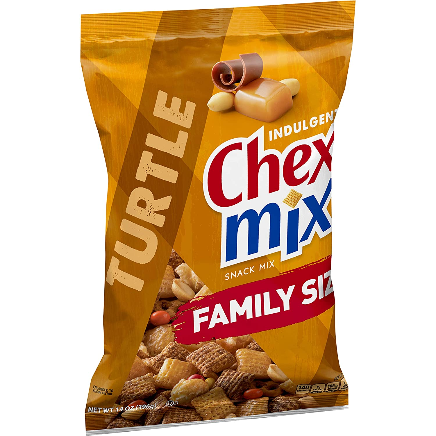 Chex Mix, Snack Mix, Indulgent Turtle, 14 oz. Bag