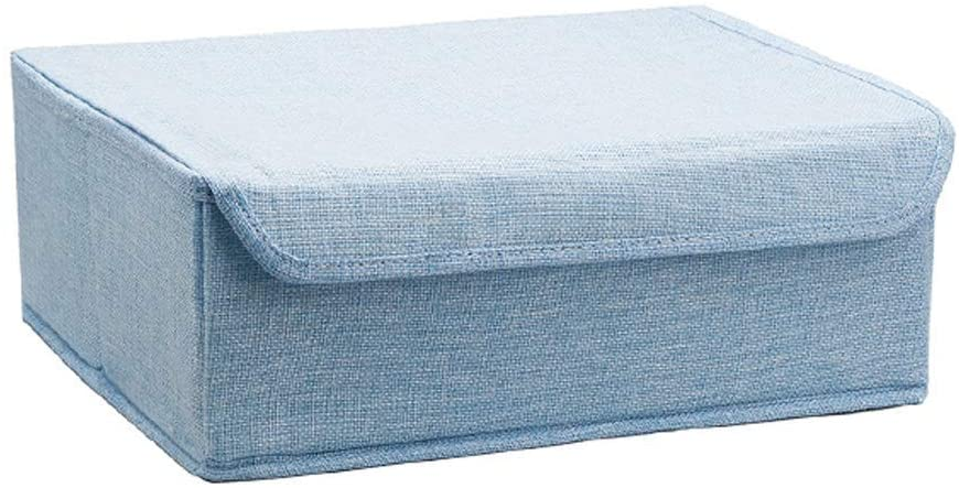 CAIS Laundry Basket,Storage Bag Underwear Organizer for The Best Storage Box for The Bedroom Laundry Under The Bed and Drawer for Clothes for Adults and Children, Socks, Shoes, Arms : Rose,Blue