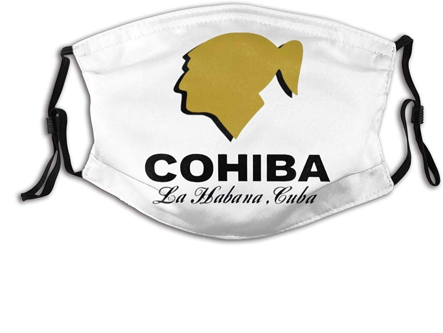 Cohiba Cigar Adjustable Unisex Reusable Face Mask Anti-Dust Masks Mouth Scarf Balaclava Face Protection For Outdoor With 2 Filters