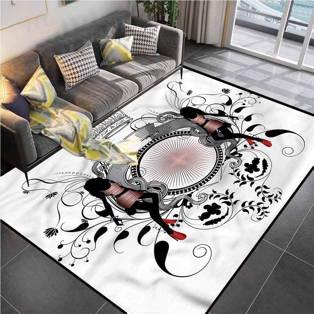 Area Rug Print Large Rug Mat Modern,Crown Royal Kingdom Girls Carpet Squares for Living Dining Dorm Playing Room Bedroom 6'6