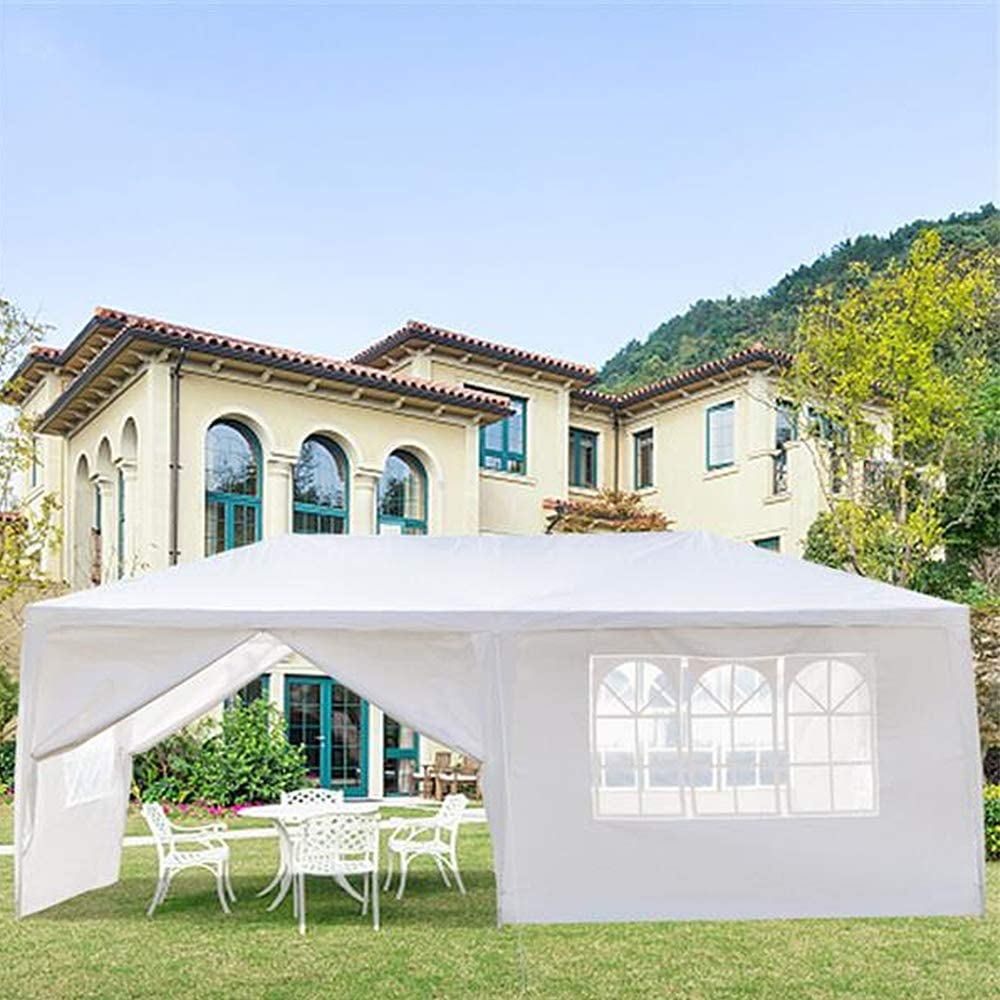 EXTREE 10'x20' Party Tent Canopy Outdoor Tents for Backyard Wedding Tent Heavy Duty Gazebo Cater Events Pavilion Beach BBQ with 6 Removable Side Walls