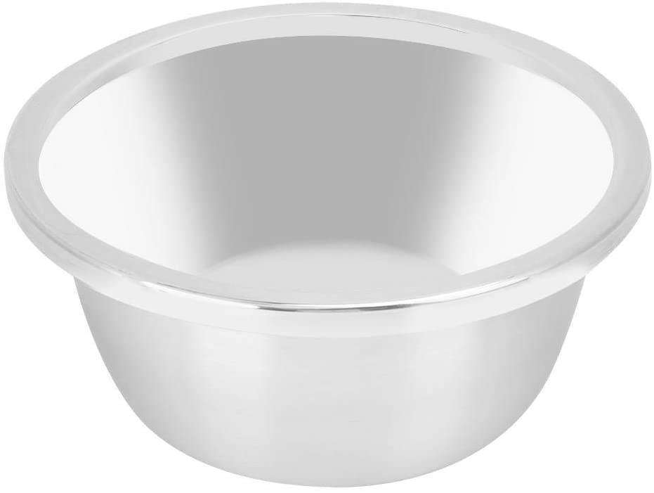 Mixing Bowl Stainless Steel Mixing Bowls Multifunctional Salad Bowl Serving Cooking Container for Home Barbecue Restaurant(M)