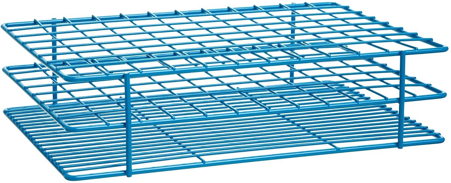 Bel-Art F18765-0001 Poxygrid Test Tube Rack; 15-16mm, 96 Places, 8 x 12x 2¹/₂ in.