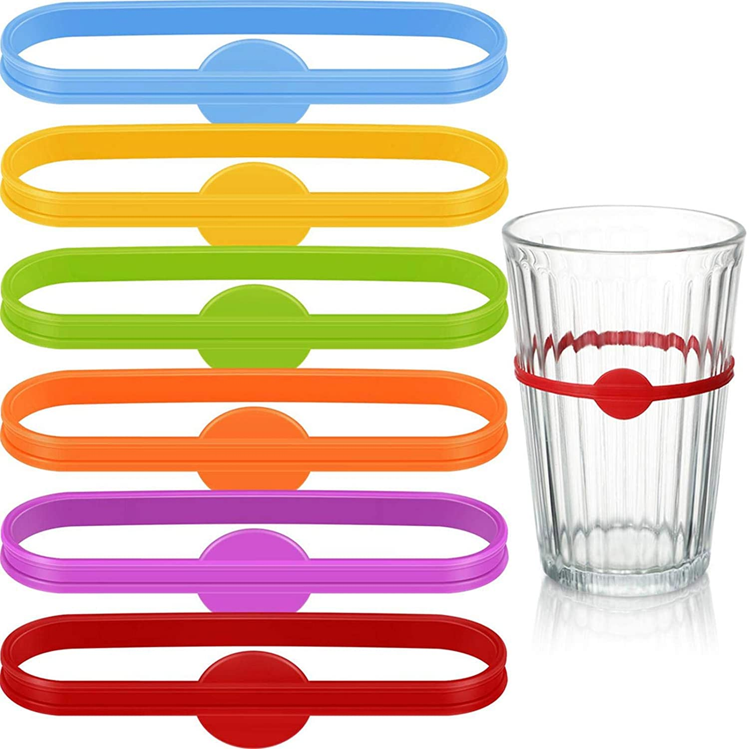 Drink Markers - Glass Cup Wine Glass Bottle Strip Tag Marker Drink Marker Wine Glass Silicone Strip Tag Marker
