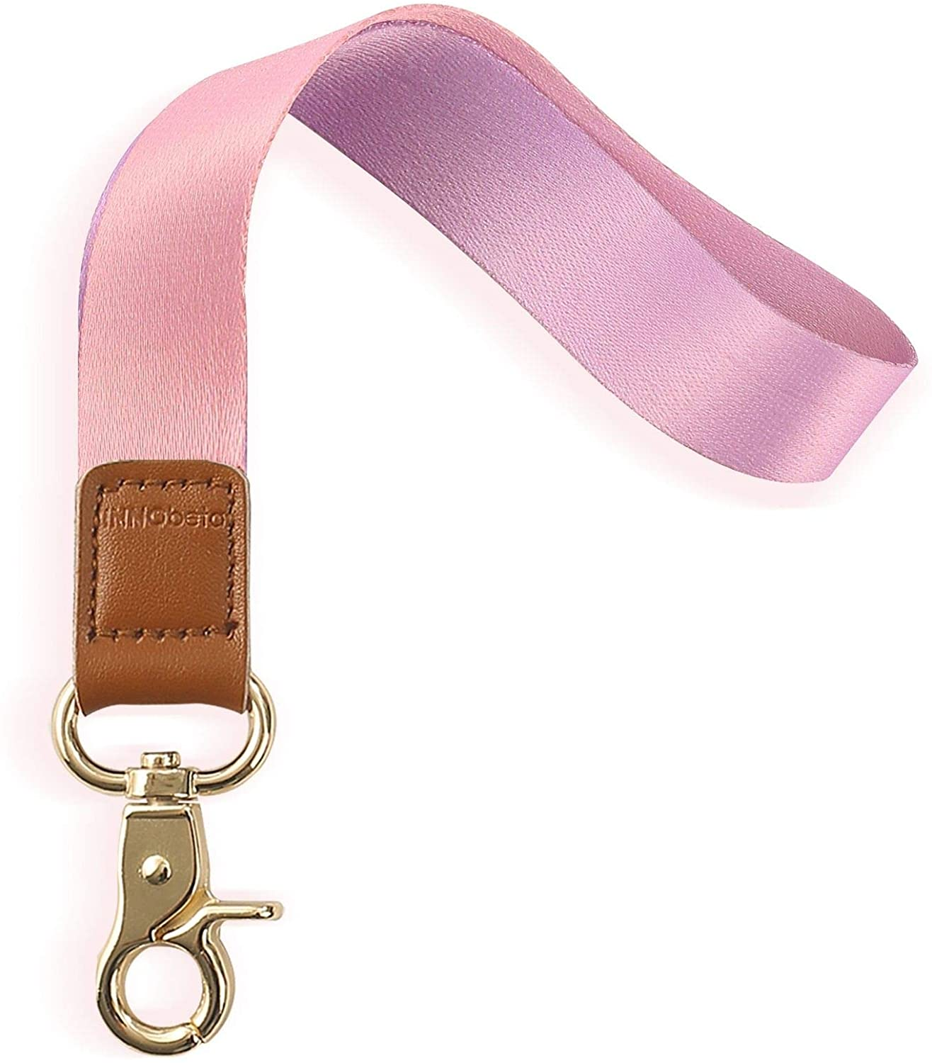 Wrist Lanyard for Women and Men, Key Lanyards for Phone Cases, Cute Keychain Lanyards with Metal Clip 2cmx16cm (Gradient Purple)