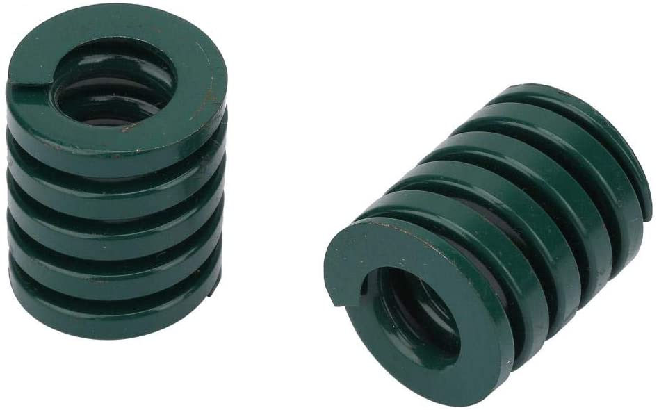 2pcs OD 25mm ID 12.5mm Heavy Load Die Spring Green Compression Mould Spring for Die Machinery Plastic Injection(TH25100mm)