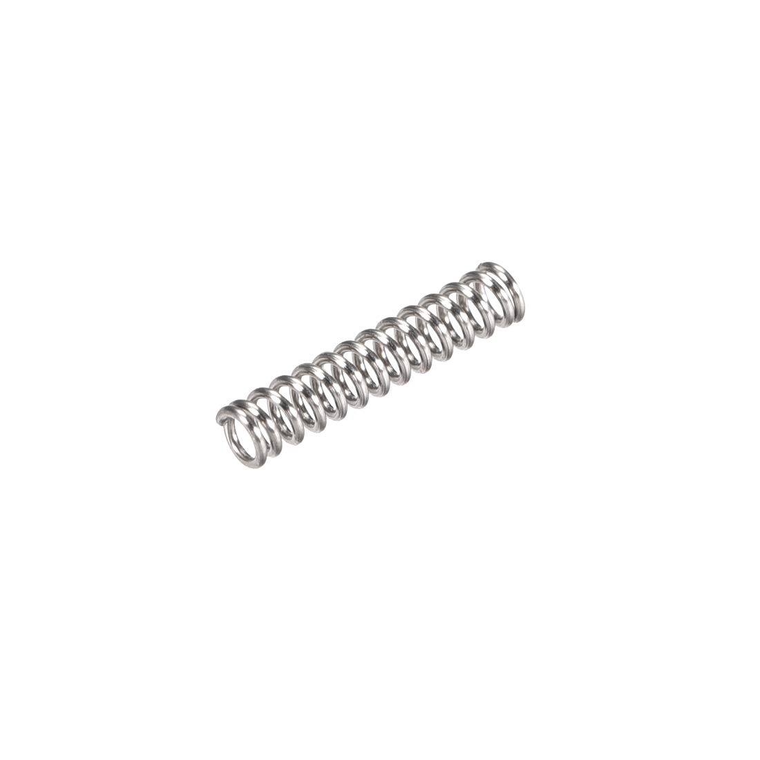 uxcell Compression Spring,304 Stainless Steel,3mm OD,0.5mm Wire Size,9mm Compressed Length,15mm Free Length,4N Load Capacity,Silver Tone,20pcs