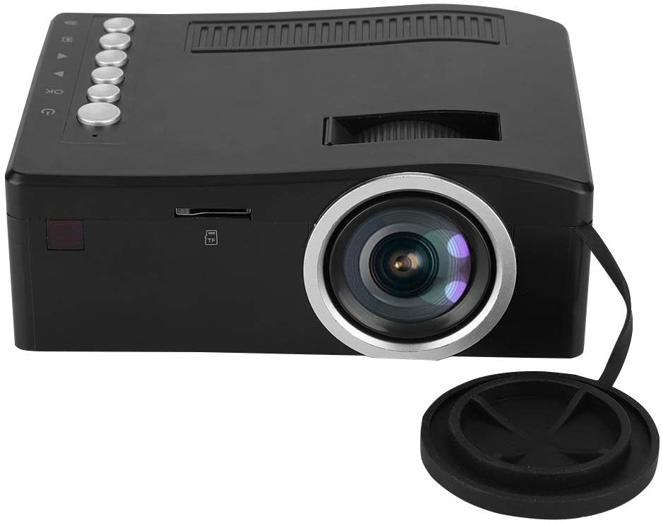 Portable Projector, MAGT 1080P Mini Projector AV/HDMI/USB/TF Home LED Projector 15-110in Large Projection