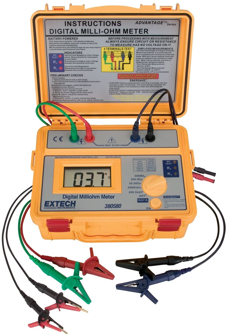 Extech 380580 Battery Powered Milliohm Meter