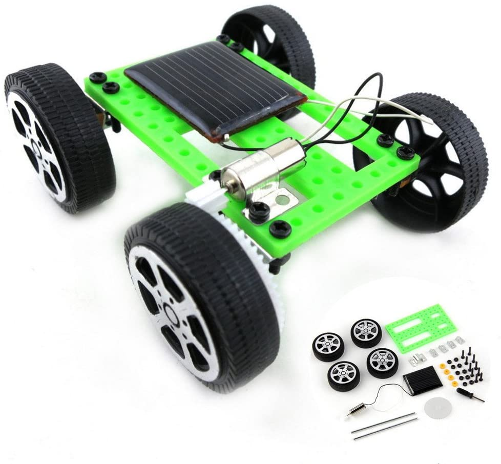 DIY Car Kit Mini Solar Powered Toy Children Educational Gadget Hobby Funny Science Experiment Solar Powered Car Engineering Car for Kids