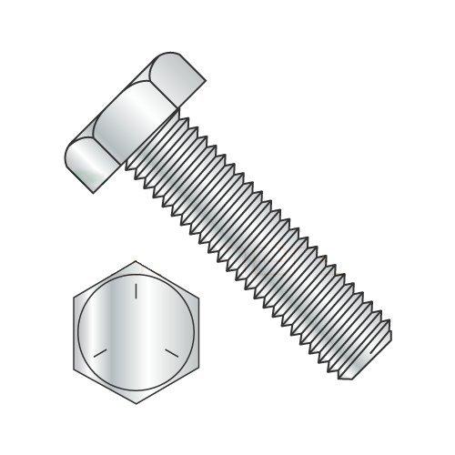 1/2 x 3-1/2 Fully Threaded Hex Tap Bolt Grade 5, Plain Steel (Quantity: 200) Coarse Thread, 1/2-13 x 3-1/2