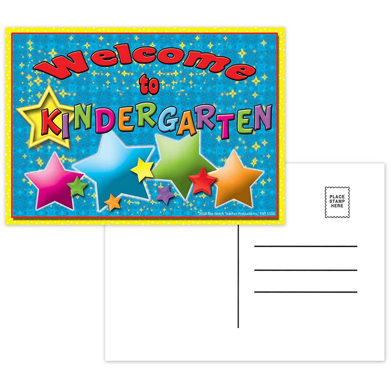 Top Notch Teacher Products TOP5116 Welcome to Kindergarten Postcards, 4.1