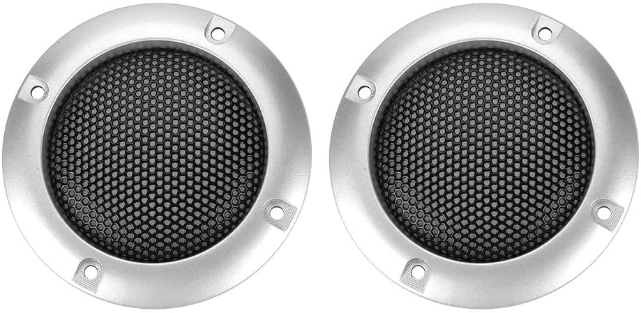2 Inch Speaker Decorative Steel Mesh Circle Car Speaker Protective Mesh Cover Replacement(Silver)
