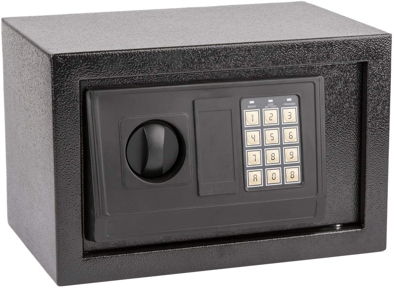 Sentry Safe Safe Box Safety Boxes Small Security Hidden Safe with Electronic Digital Keypad Lock Money Box Lock Box Wall Cabinet Safe Box for Home Office Hotel with 2 Keys, Black (12.2 x 7.87 x 7.87)