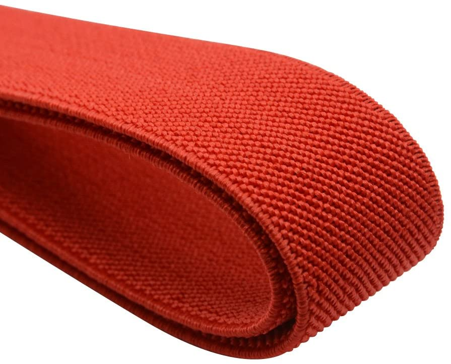 iCraft 1-Inch by 5-Yard Red Colored Double-Side Twill Non-Roll Wowen Elastic 72220