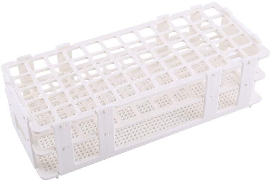 Maxmartt 1pc Test Tube Rack Removable Plastic Combination Tube Rack 1660 Holes White