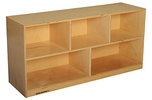 Childcraft Mobile Toddler Shelf, 5 Compartments, 47-3/4 x 14-1/4 x 24 Inches