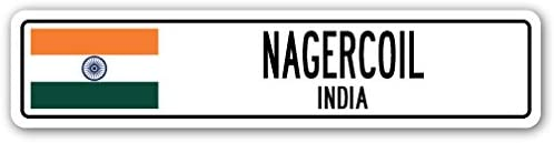 NAGERCOIL, India Street Sign Indian Flag City Country Road Wall Gift