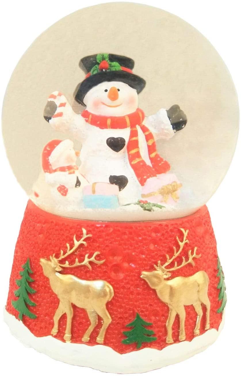 Lightahead Christmas Musical Polyresin Snow Globe Water Ball (Snowman)