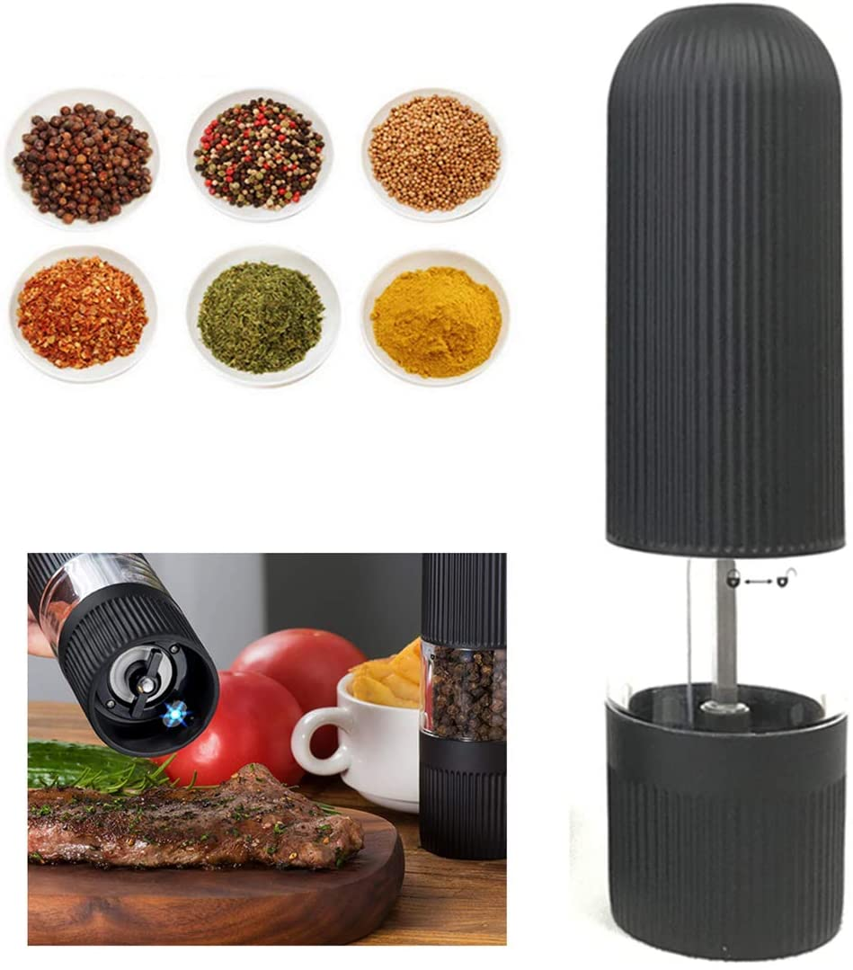 GTNINE Pepper Mill Electric Salt and Pepper Grinder Automatic Spice Grinder Kitchen Cooking BBQ Tools