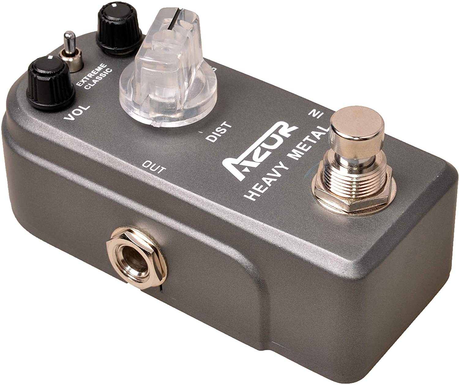 AZOR Heavy Metal Distortion Guitar Effects Pedal 3 Modes Controls with True Bypass Aluminium-alloy AP-321