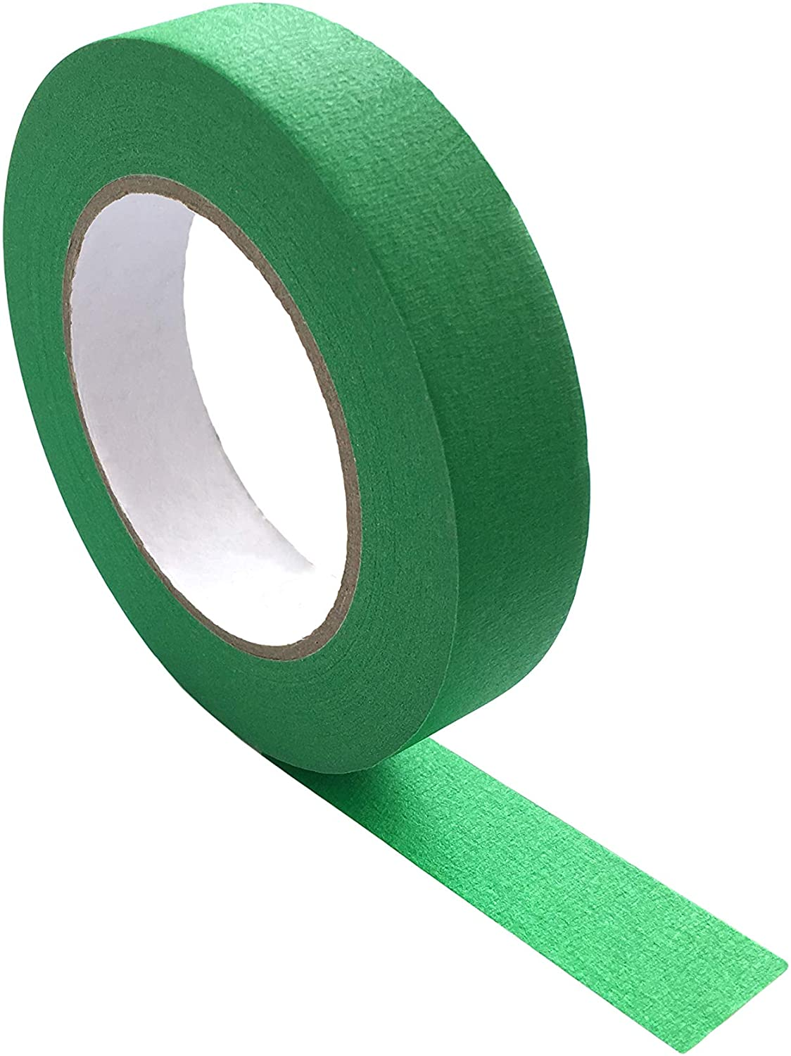 Green Color Tape for Crafting, 1 inch x 60 Yards, Masking and Washi Style Adhesive, Arts, Crafts, DIY Projects, Labeling, Moving, Sticks to Cloth, Paper or Metal