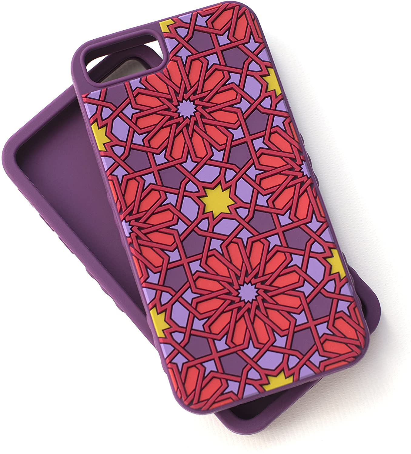 Tech Candy iPhone 6 Plus 6+ iPhone 7 Plus 7+ iPhone 8 Plus 8+ Phone Kaleidoscopic Case Soft Silicone 3D Texture Protective Durable Pretty Designer Girls Teenagers Womens Shock Absorbing Beautiful Pur