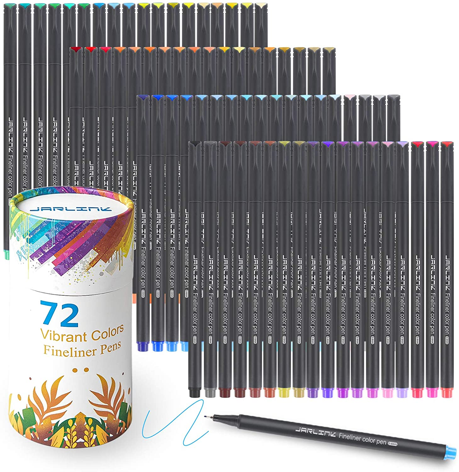 JARLINK 72 Colors Journal Planner Pens, Fine Point Fineliner Markers for Journaling Writing Office Supplies